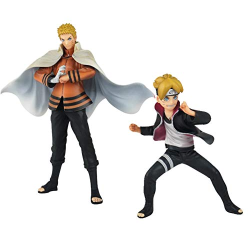 (Raleighsee Boruto Naruto Anime Uzumaki Naruto Father and Son Boxed Doll Model PVC Figure / Vinyl Figure / Action Figure / Collectible Figurine)
