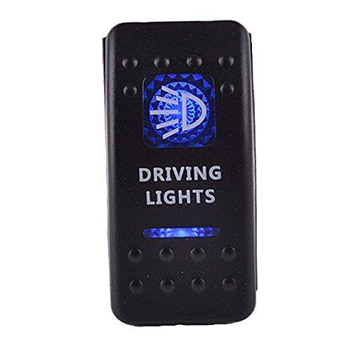 E Support Car Blue LED Driving Light Toggle Switch