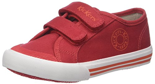 Kickers Godille, Zapatillas Unisex Niños Rouge (Rouge)