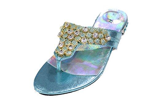 Sandales Wear Walk Turquoise Plateforme amp; UK femme RwwAzqx