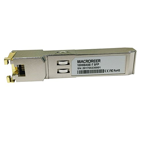 Macroreer Ubiquiti Compatible 10/100/1000BASE-T Copper SFP Transceiver RJ45 100m by Macroreer (Image #1)