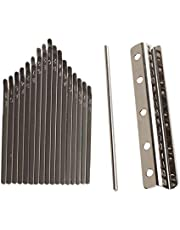 kesoto Thumb Piano Bridge Saddle 17 Keys Set Kit For Kalimba DIY Replacement Parts