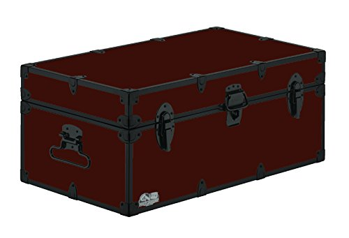 Happy Camper Trunk-Black Trim 32x18x13.5'' by C&N Footlockers