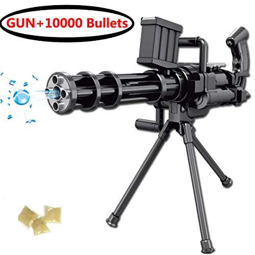 Water Foam Toy Blaster Gun, Soaker Water Pistol Blaster Gun Dart Gun Toy with Bracket 10000 Pcs Soft Water Crystal,Beach Sand Water Blaster Toy for Children Fun Outdoor Game ()
