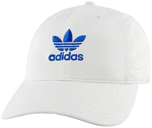 (adidas Women's Originals Relaxed Adjustable Strapback Cap, white/blue bird, One Size)
