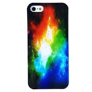 TY-Nube del patrón TPU caja colorida suave para el iPhone 5/5S