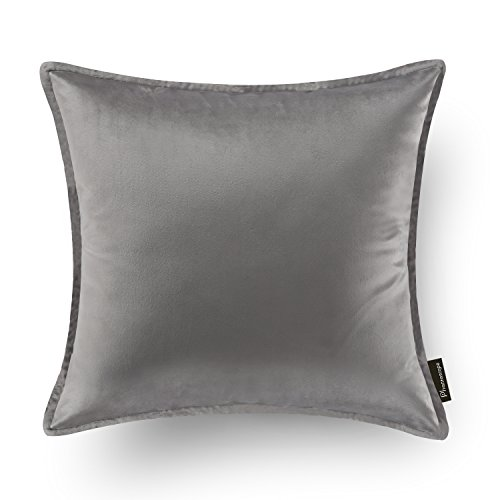 no without grey up case cushion soft cover with in home velvet gray piping stuffing pillow balling colors item smoke silver from medium