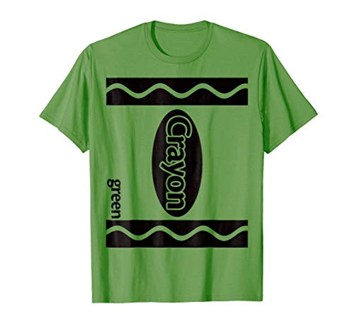 Green Crayon Box Halloween Costume Couple Group T-Shirt -