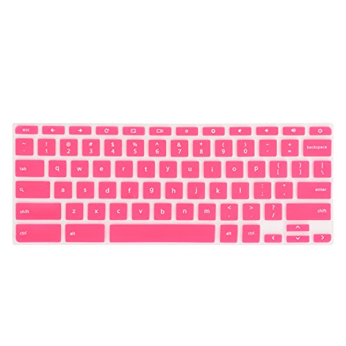 "Keyboard Cover for Acer Chromebook 11 CB3-131 Series, 15.6"" CB3-531 Series, CB5-132T Series, CB5-571 Series, C910 Series US Layout (NOT FIT FOR CB3-111 SERIES) (Pink)"