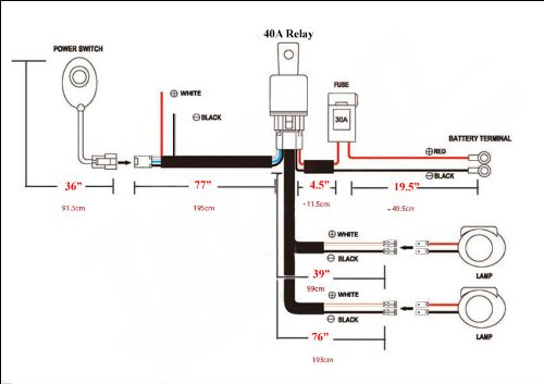 off road light wiring diagram wirdig power bulbs light wiring harness relay switch for off road fog driving
