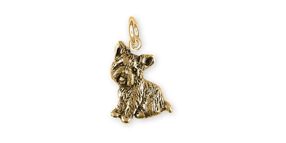 Yorkie Jewelry 14k Gold Handmade Yorkshire Terrier Charm YK342X-CG