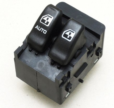 Power Window Switch - Front Left, 2 Button for Chevrolet Venture 2005-00, Oldsmobile Silhouette 2004-00 - 10387305