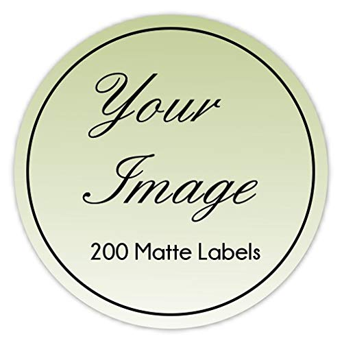 200 Custom Logo Stickers, Round Logo Labels, Photo or Business Labels, Available in Three Sizes