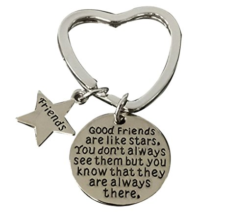 Infinity Collection Best Friends Keychain-Good Friends Heart Keychain- Friend Jewelry for Friends ()