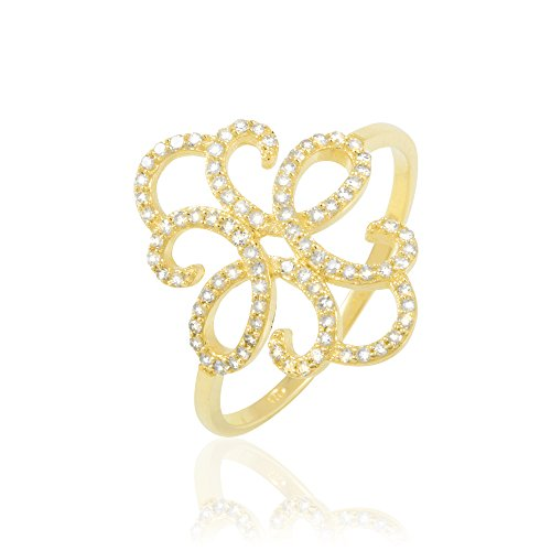 HISTOIRE D'OR - Bague Or et Diamant - Femme - Or jaune 375/1000