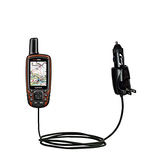 Unique Gomadic Car and Wall AC/DC Charger designed for the Garmin GPSMAP 64 / 64s / 64st – Two Critical Functions, One Great Charger (includes Gomadic TipExchange) by Gomadic