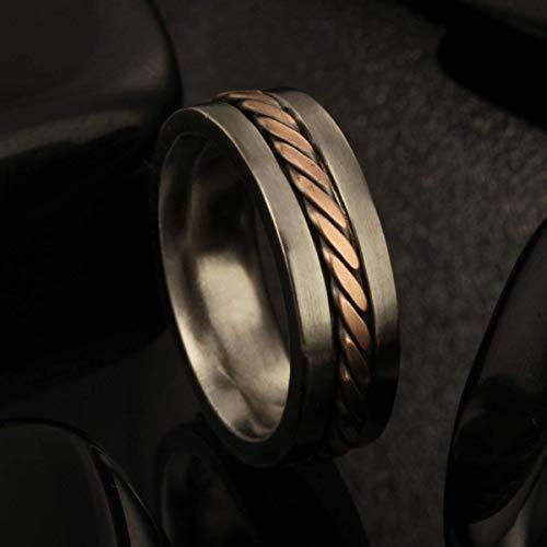 (Men's Wedding Band Comfort Fit, Copper Men's Ring, 8m