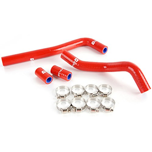 Crf150 Hose (Silicone Radiator Hose Kit For Honda CRF150 CRF 150 2007 2008 2009 Red)