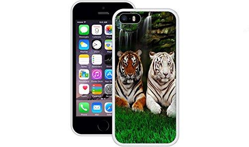 Bengal Tiger Weiß | Handgefertigt | iPhone 5 5s SE | Weiß TPU Hülle