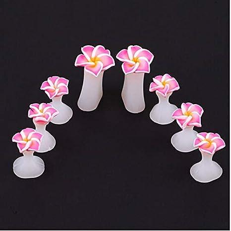 8Pcs Silicone Toe Separator Salon Polish Manicure Pedicure Tool(Pink) Huacang