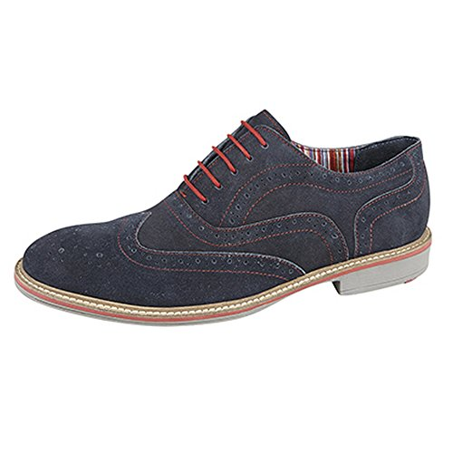 5 Herren Ösen Schuhe Marineblau Brogue Oxford Roamers S0q7Wg5g