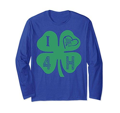 Unisex 4H Apparel For 4-H Teammates - I Love 4-H Clover Heart Shirt XL: Royal - H 4 Clover