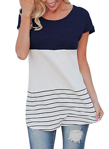 Dokotoo Womens Striped Sleeve X Large