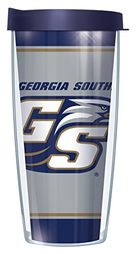 [Georgia Southern University Varsity Stripe 22 Oz Traveler Tumbler Mug with Lid] (Georgia Stripe)
