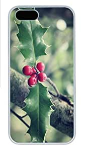 iPhone 5S Cases & Covers - Christmas leaves Custom PC Hard Case Cover for iPhone 5/5S ¿C White