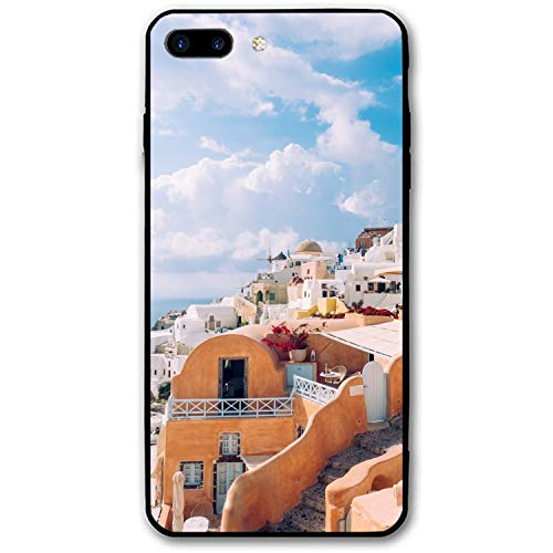 Greece Balcony Luxury Printed iPhone 7/8 Plus Cover Full Body Protect Compatible for iPhone 7/8 Plus Case 5.5