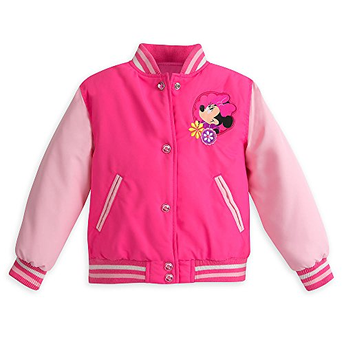 Disney Pink Minnie Mouse Varsity Jacket for Girls Size 4 (Disney Varsity Jacket)