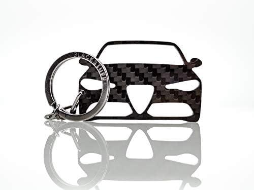 BlackStuff Porte-Cl/és En Fibre De Carbone Compatible Avec Alfa 4C Voiture