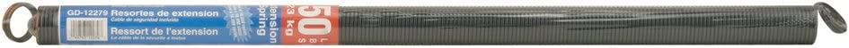 Prime-Line Products GD 12279 Sectional Door Extension Spring with 25-Inch Cable, Orange