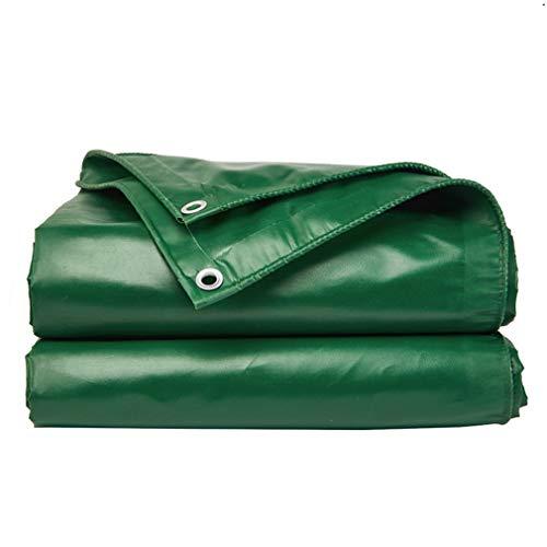 MSJIAO Tarpaulin Waterproof Foldable Outdoor Rainproof Sun Protection Tarpaulin with Metal Hole Eye PE Plastic, 12 Sizes (Color : Green, Size : 2x2),64m
