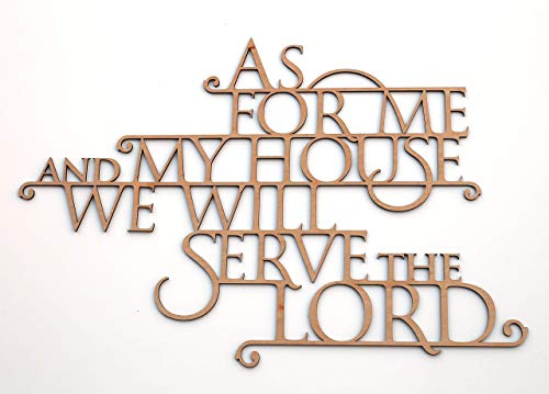 As For Me and My House We Will Serve the Lord - Wooden 3D Wallhanging - Joshua 24:15 - Bible Verse Wall Art Home Decor