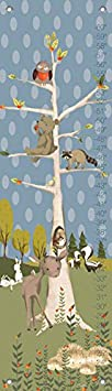 Oopsy Daisy Growth Charts Woodland Pals Boy by Meghann O'Hara - 12 by 42-Inch