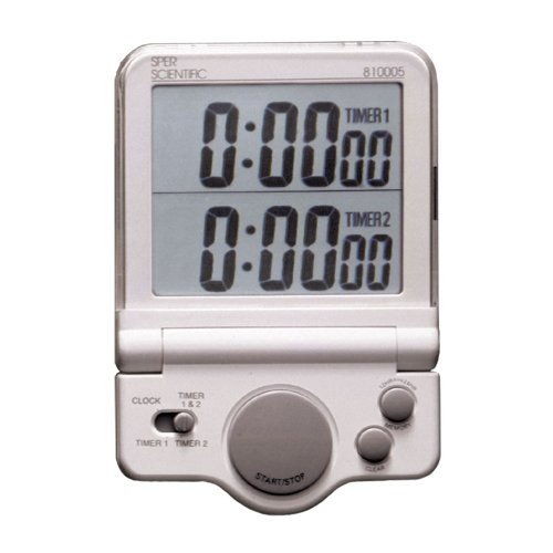 Sper Scientific 810005 Large Display Timer, White
