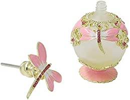 e4b46f2c5f07 CMiracle Pink Dragonfly Refillable Empty Glass Frosted Perfume ...