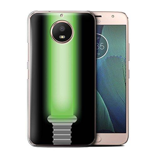 STUFF4 Phone Case/Cover for Motorola Moto E4 Plus 2017 / Jedi Knight Green Design/Lightsaber Laser Sword -