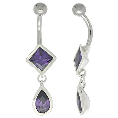 Amethyst Zirconia Sterling Silver Setting