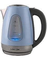 Lawazim Electric Kettle 2200W 1.7L Temperature Control Water kettle Stainless Steel - Sky Blue