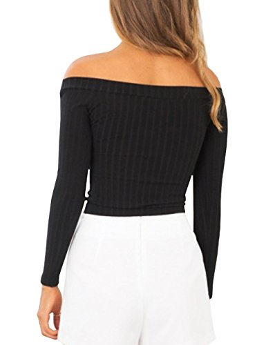 ISASSY Manches Top Longues Chic Femme PxSwqgrzPH