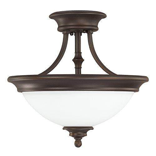 Capital Lighting 3418BB-SW Two Light Semi-Flush - 2 Belmont Light