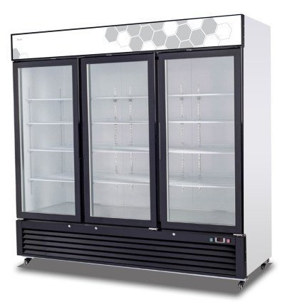 Migali C-72FM 72 Cu/ft 3 Glass Door Merchandiser Freezer