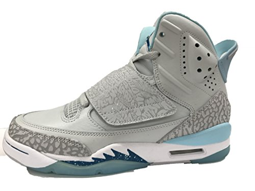 JORDAN SON OF GG girls fashion-sneakers 512242-016_9Y - PURE PLATINUM/GREEN ABYSS-STILL BLUE by Jordan