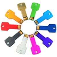 Abahub USB Flash Drive 16G, Metal Key Shaped Memory Stick (10 Pack)