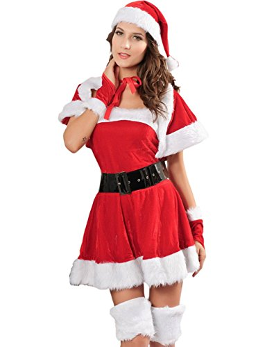 YOLL Miss Sexy Party Fancy Santa Dress Xmas Claus Costume...