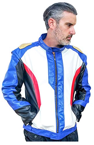 DAZCOS US Size PU Leather Soldier 76 Cosplay Jacket/Gloves (Men XX-Large, Jacket and Golves)
