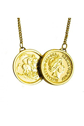 9242b16687989 Two Coin Necklace in Gold