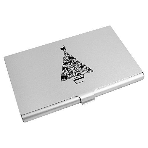 CH00005408 Wallet Christmas Credit Azeeda Card 'Cat Card Tree' Business Holder Uzv1aq